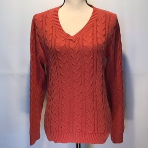 Croft & Barrow Woman's Cable Knit Sweater Size Med